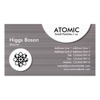 Atomic Circles - Brushed Metal II Texture Pack Of Standard Business Cards