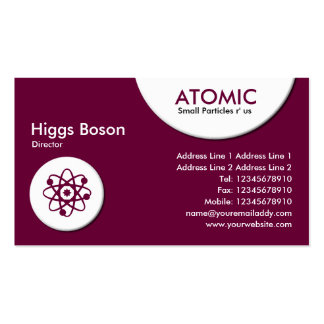 Atomic Circles - Dark Crimson (660033) Pack Of Standard Business Cards