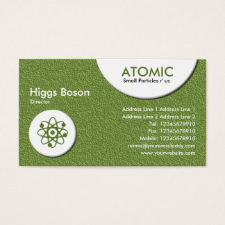 Atomic Circles - Green Embossed Texture Business Card