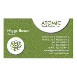 Atomic Circles - Green Embossed Texture Pack Of Standard Business Cards