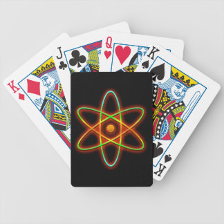 Atomic concept. bicycle playing cards