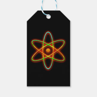 Atomic concept. gift tags