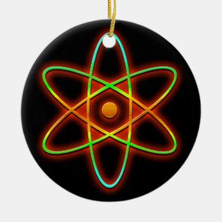 Atomic concept. round ceramic decoration