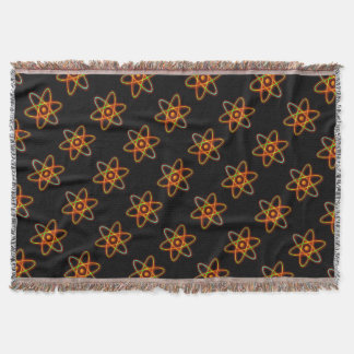 Atomic concept. throw blanket