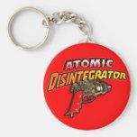 Atomic Disintegrator Basic Round Button Key Ring