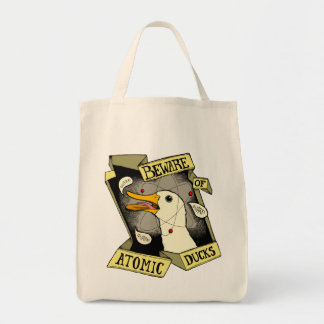Atomic Duck grocery bag