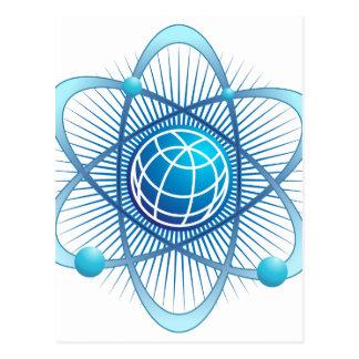 Atomic Energy Globe Postcard