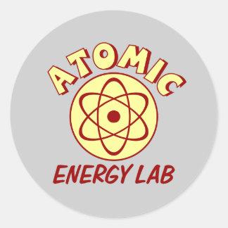 Atomic Energy Lab Round Sticker