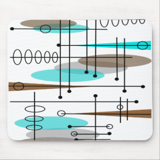 Atomic Era Inspired Mid-Century Design 13 Mouse Mat