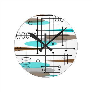 Atomic Era Mid-Century Modern Abstract Clocks
