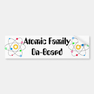 Atomic Family Car Bumper Sticker