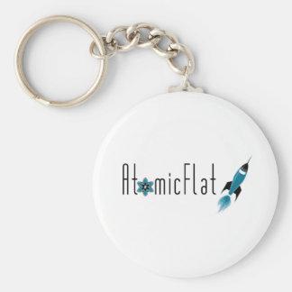 Atomic Flat Basic Round Button Key Ring