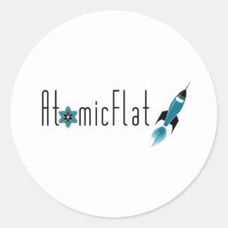 Atomic Flat Round Sticker