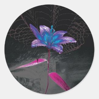 Atomic Flower Classic Round Sticker