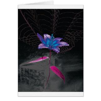Atomic Flower Greeting Card