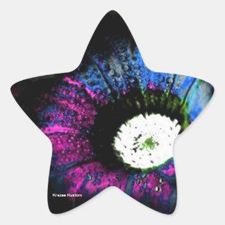 Atomic Flower Star Sticker