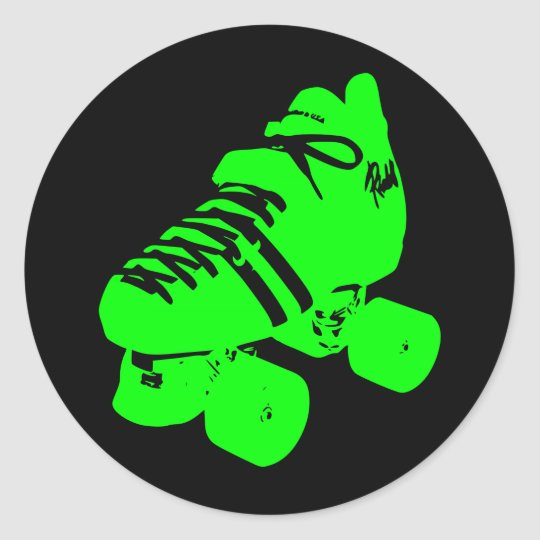 Atomic Green Roller Derby Skate Sticker