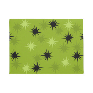 Atomic Green Starbursts Door Mat