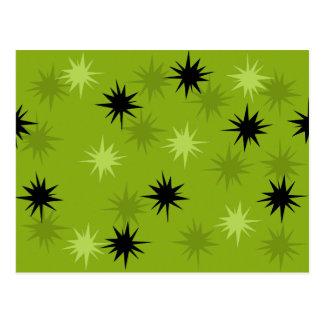 Atomic Green Starbursts Postcard