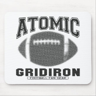 Atomic Gridiron Black and Silver Mouse Pad