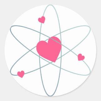 Atomic Heart Round Sticker
