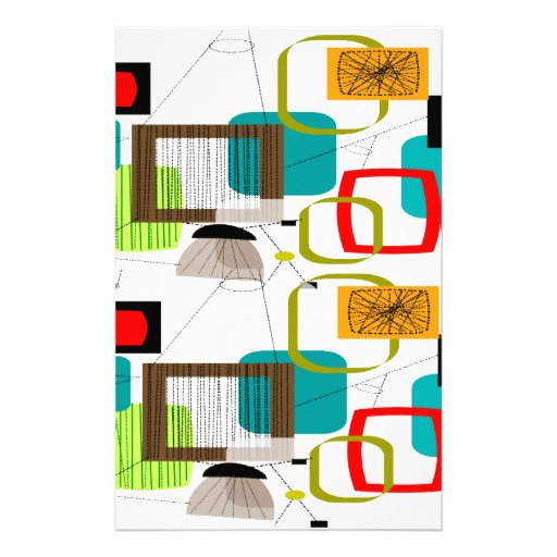 Atomic Inspired Abstract Design Stationery