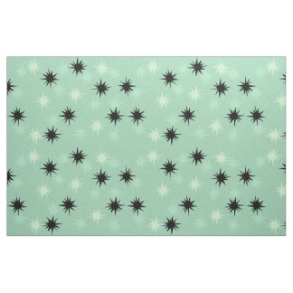 Atomic Jade & Mint Starbursts Cotton Fabric