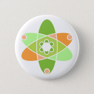 Atomic Kiwi 6 Cm Round Badge