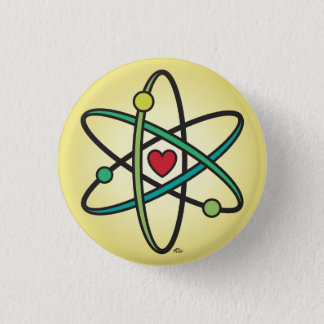 Atomic Love 3 Cm Round Badge