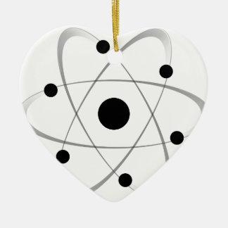 Atomic Mass Structure 6 Ceramic Heart Decoration