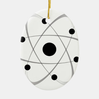 Atomic Mass Structure 6 Ceramic Oval Decoration