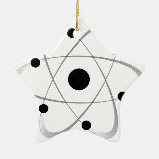 Atomic Mass Structure 6 Ceramic Star Decoration