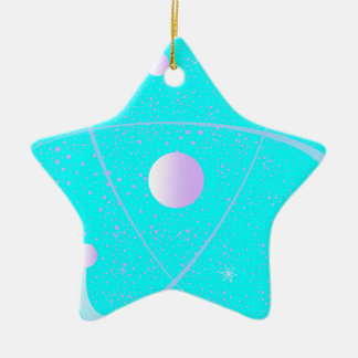 Atomic Mass Structure Background Ceramic Star Decoration