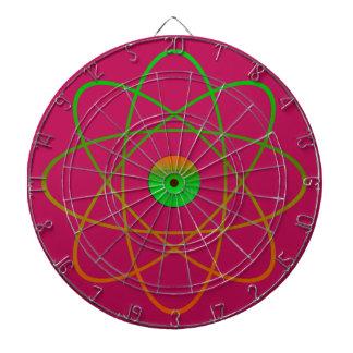 Atomic Metal Cage Dartboard,Pink Dartboard