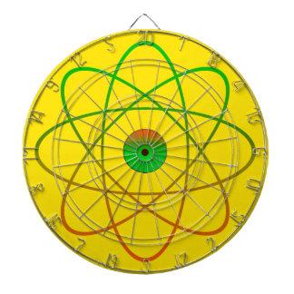 Atomic Metal Cage Dartboard,Yellow Dartboard