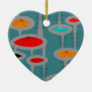 Atomic Mid-Century Inspired Abstract Christmas Ornament