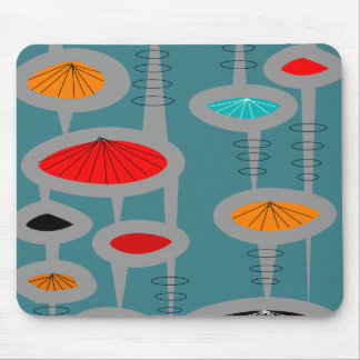 Atomic Mid-Century Inspired Abstract Mouse Mat