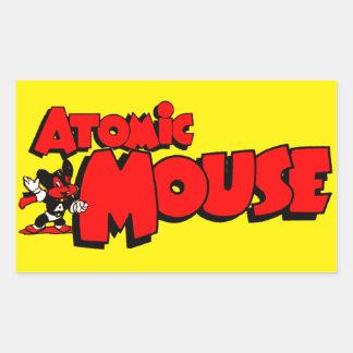 Atomic Mouse Rectangular Sticker
