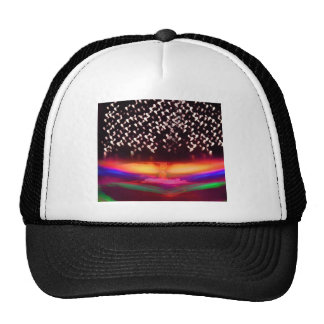 Atomic Neon Colored Starry Night Cap
