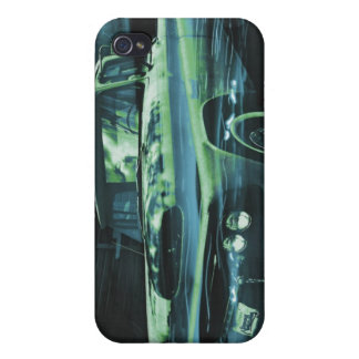 Atomic Old Timer bluer iPhone 4/4S Cover