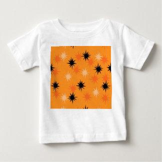 Atomic Orange Starbursts Baby T-Shirt