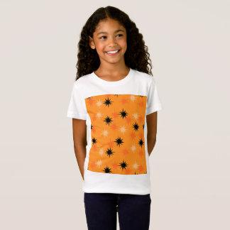 Atomic Orange Starbursts Girls' T-Shirt