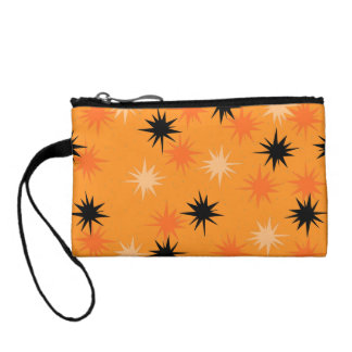 Atomic Orange Starbursts Key Coin Clutch