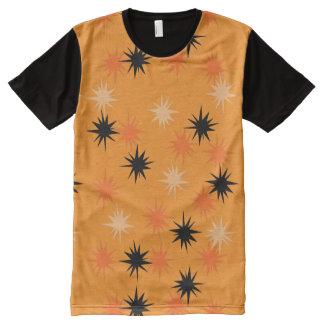 Atomic Orange Starbursts Panel T-Shirt