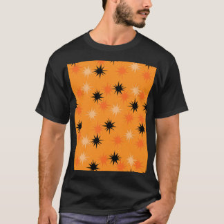 Atomic Orange Starbursts T-Shirt