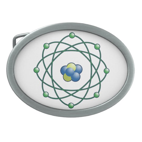 Atomic Particle Super Hero Oval Belt Buckles