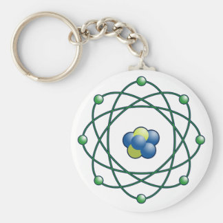 Atomic Particles Basic Round Button Key Ring