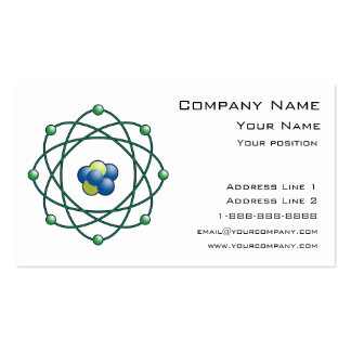 Atomic Particles Business Card Template