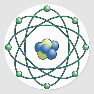 Atomic Particles Classic Round Sticker