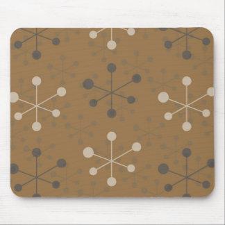 Atomic Pattern in brown Mousepad